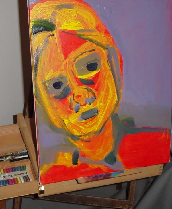 Self portrait, Caroline Allen — Budapest2006